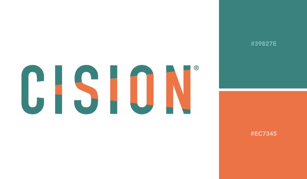 logo color schemes - cision palette