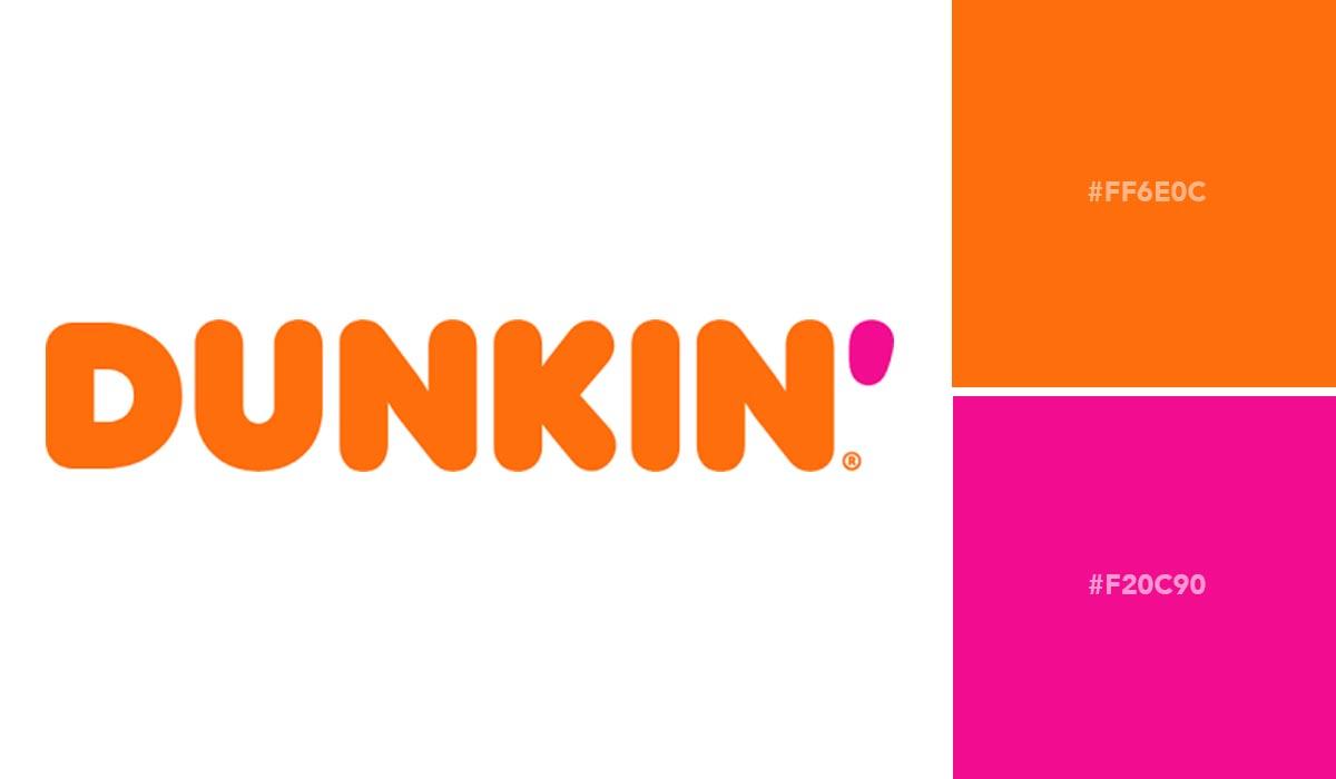 logo color schemes - dunkin palette