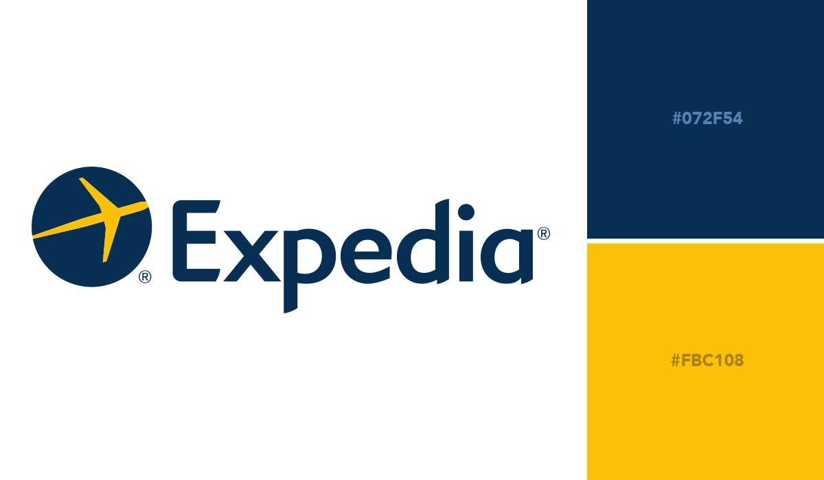 logo color schemes - expedia palette