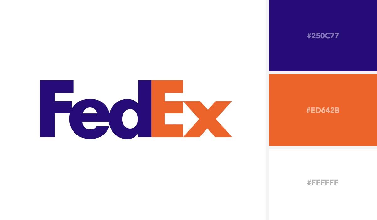 logo color schemes - fedex palette