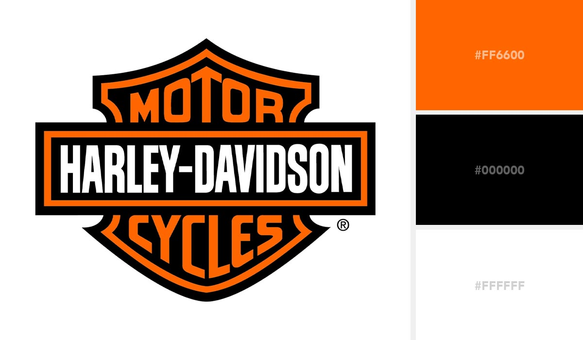 logo color schemes - harley davidson palette