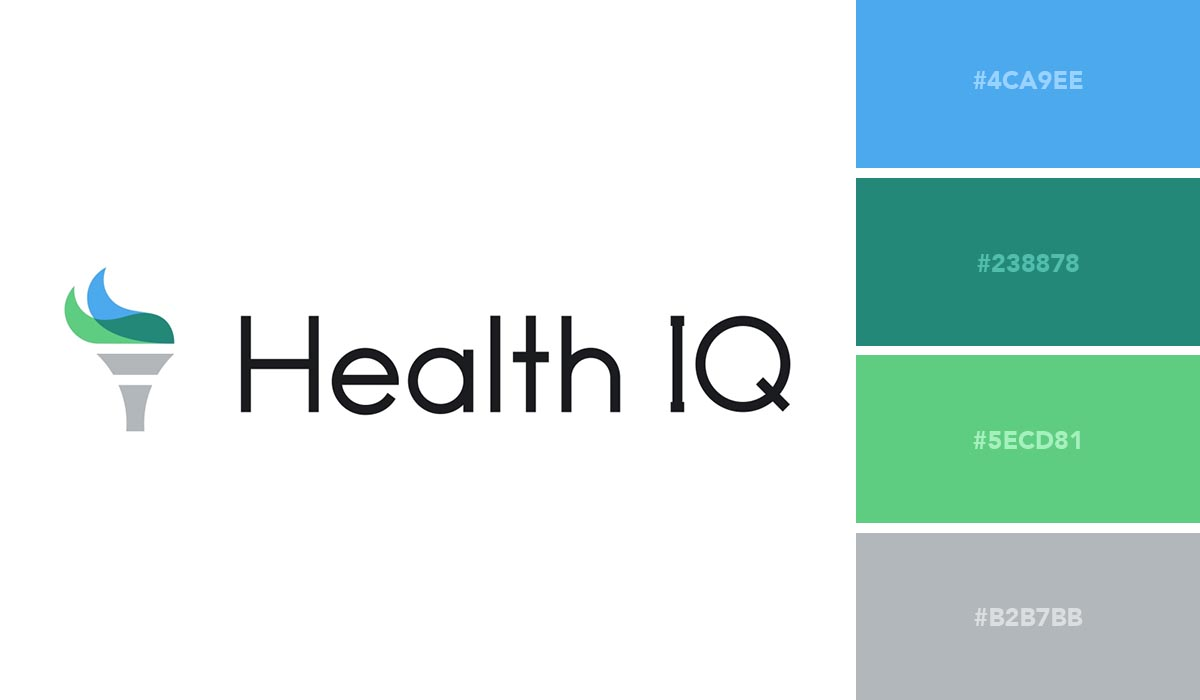 logo color schemes - health iq palette