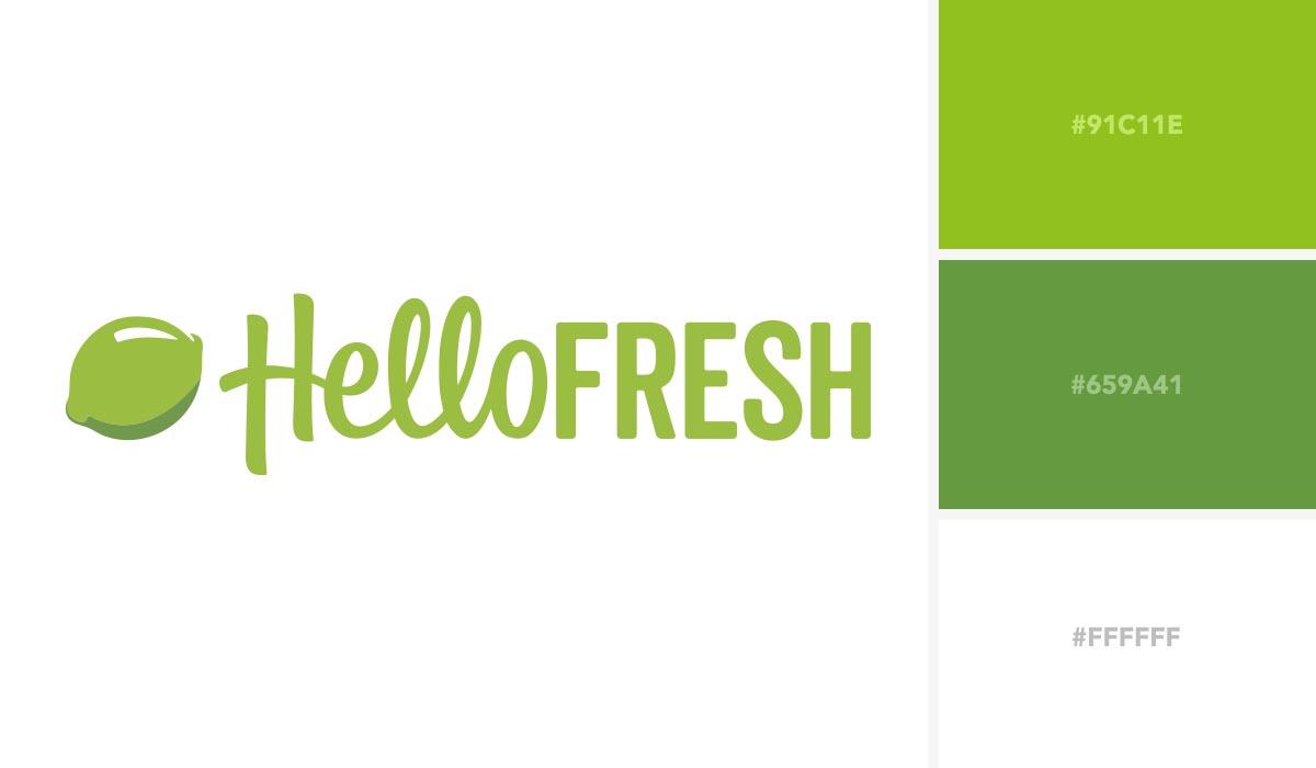 logo color schemes - hello fresh palette