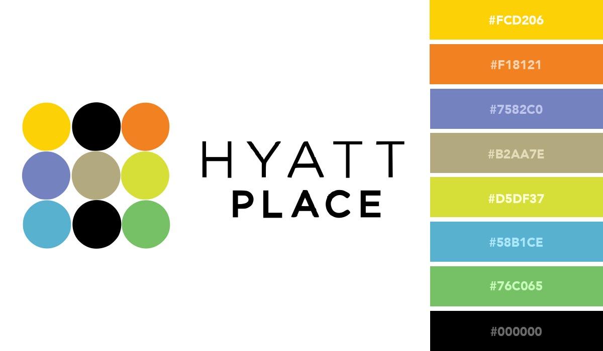 logo color schemes - hyatt palette