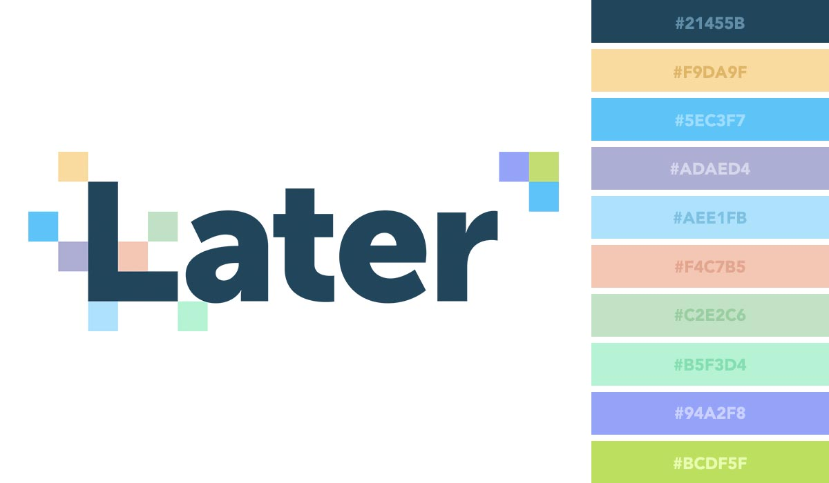 logo color schemes - later palette