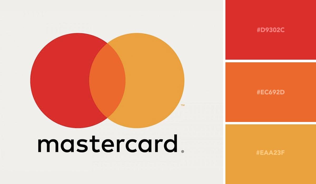 logo color schemes - mastercard palette