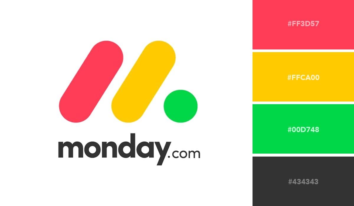 logo color schemes - monday palette