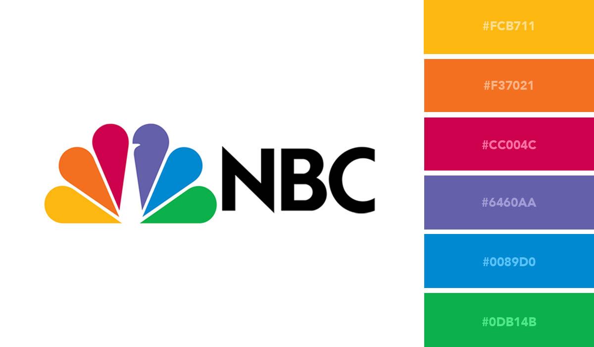 logo color schemes - nbc palette