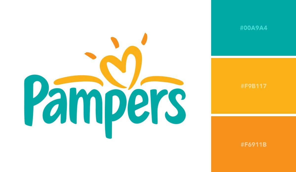 logo color schemes - pampers palette