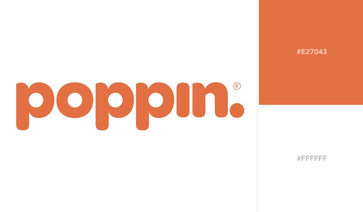 logo color schemes - poppin palette