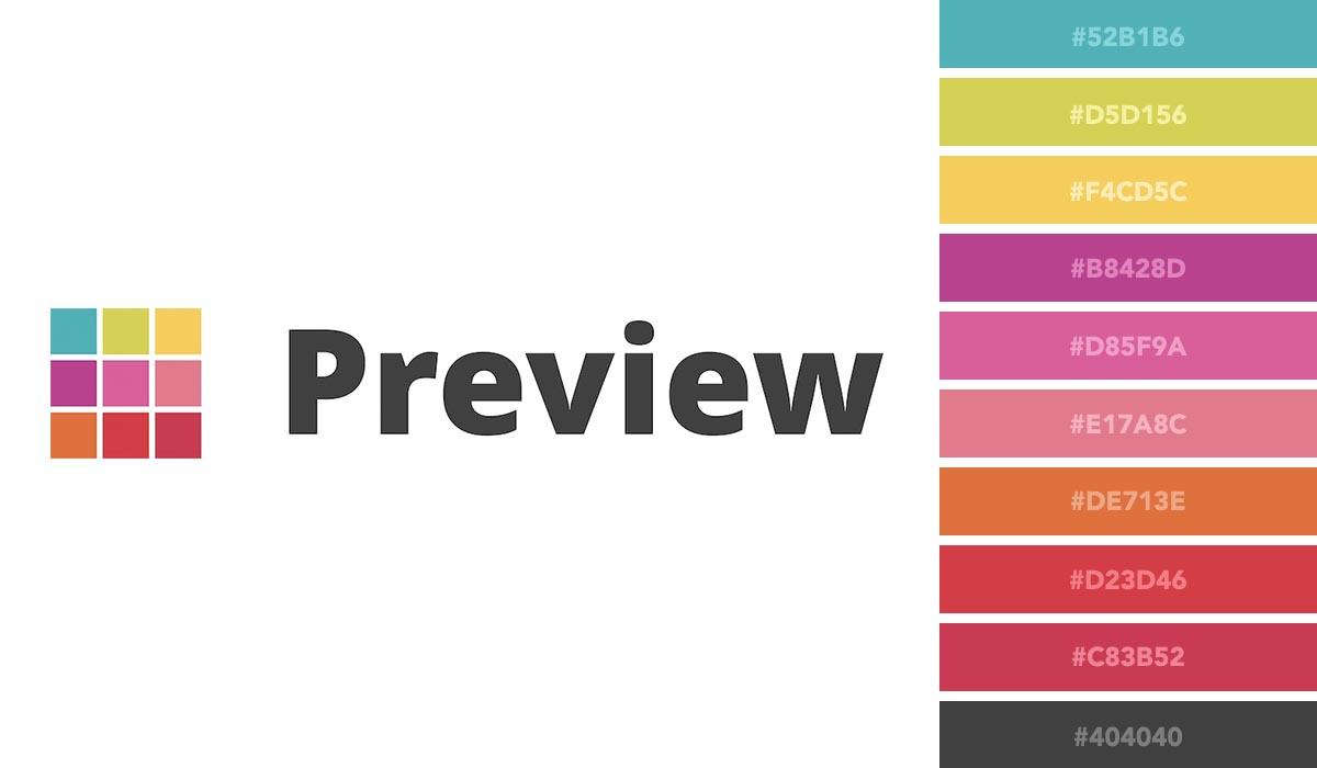 logo color schemes - preview palette