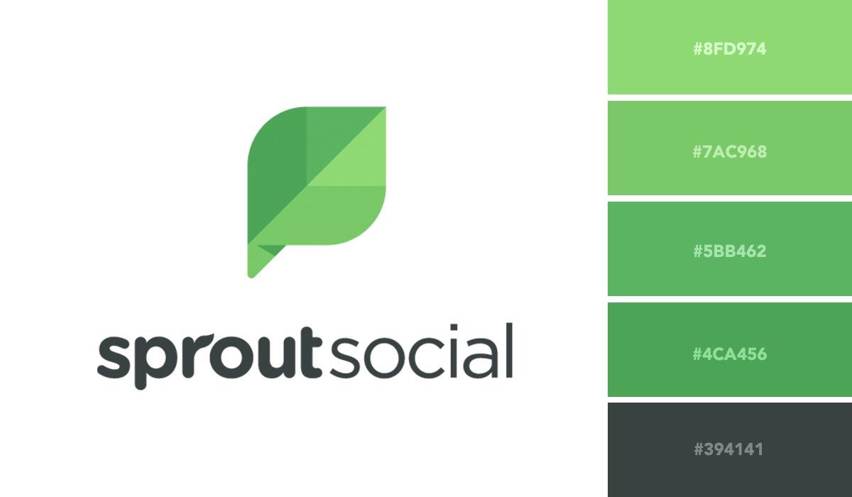 logo color schemes - sprout social palette