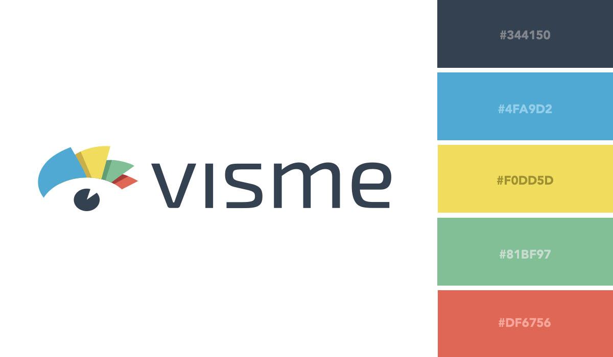 logo color schemes - visme palette