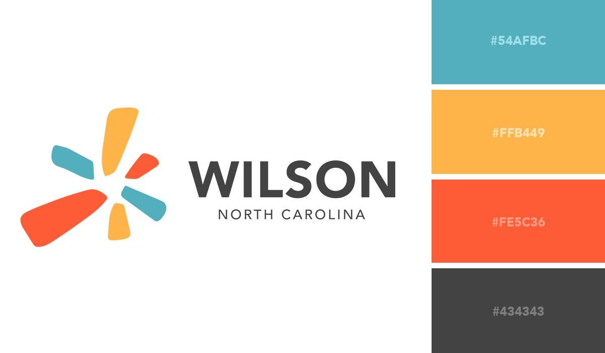 logo color schemes - wilson nc palette