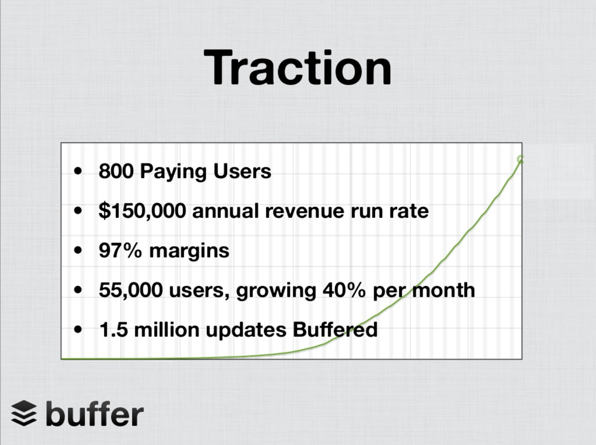 what is a pitch deck - traction slide buffer