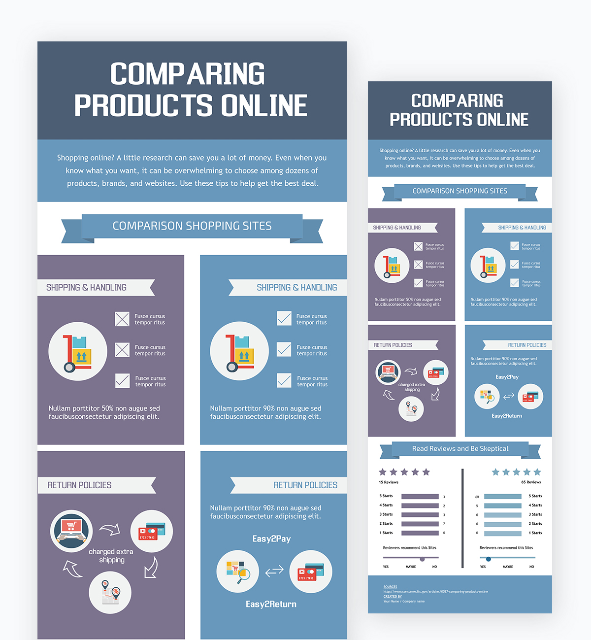 create a chart - comparison chart template