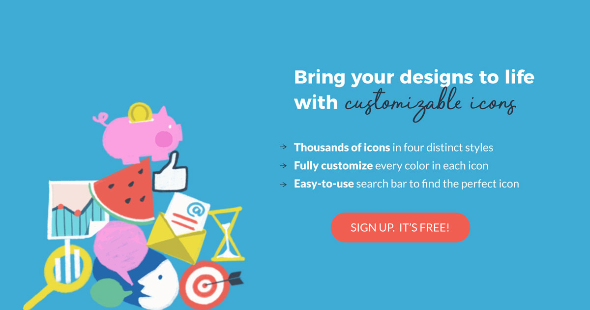 bring your designs to life with customizable icons