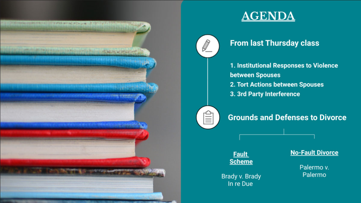 visme law professor - agenda slide for the classroom
