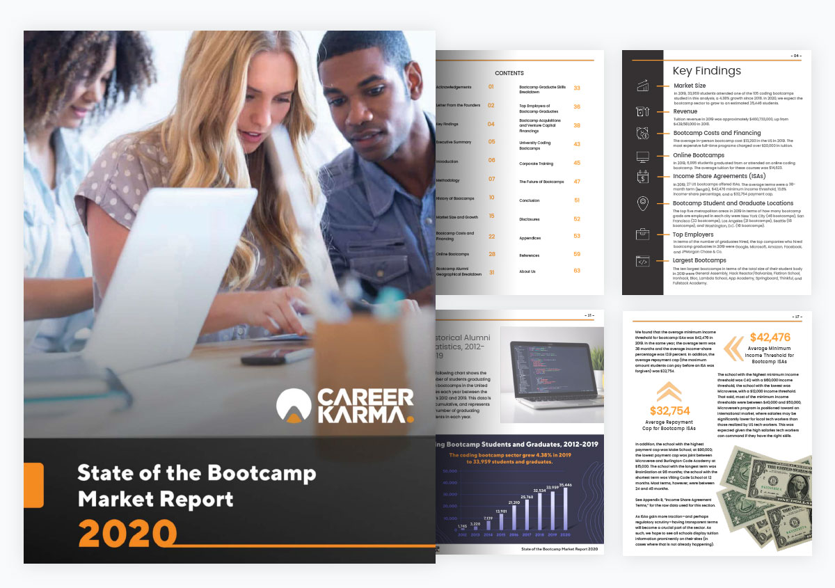 case study visme increased website traffic - state of the bootcamp market report by career karma