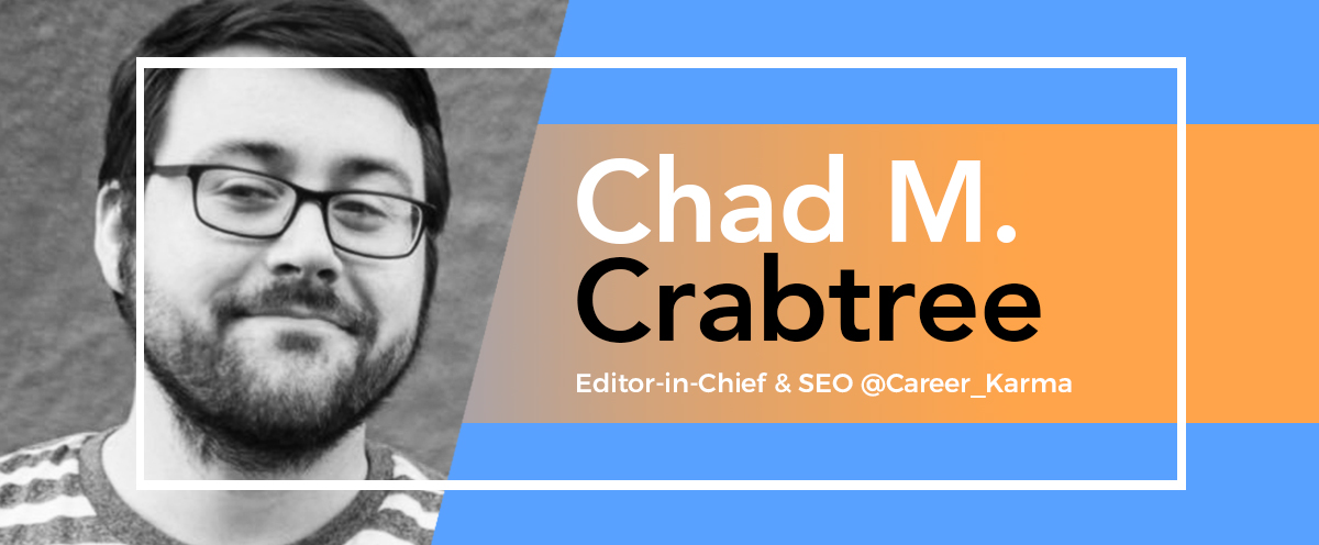 case study visme increased website traffic - chad crabtree bio