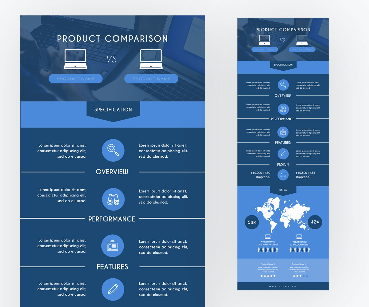 what is an infographic - template Comparison-infographic