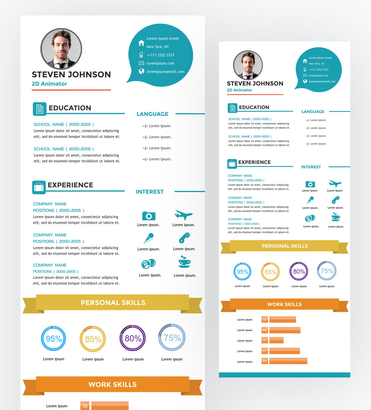 what is an infographic - template Visual-resume-infographic