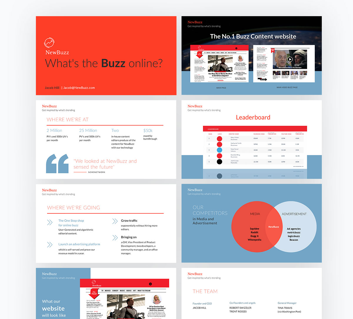 pitch deck design - new buzz pitch deck template