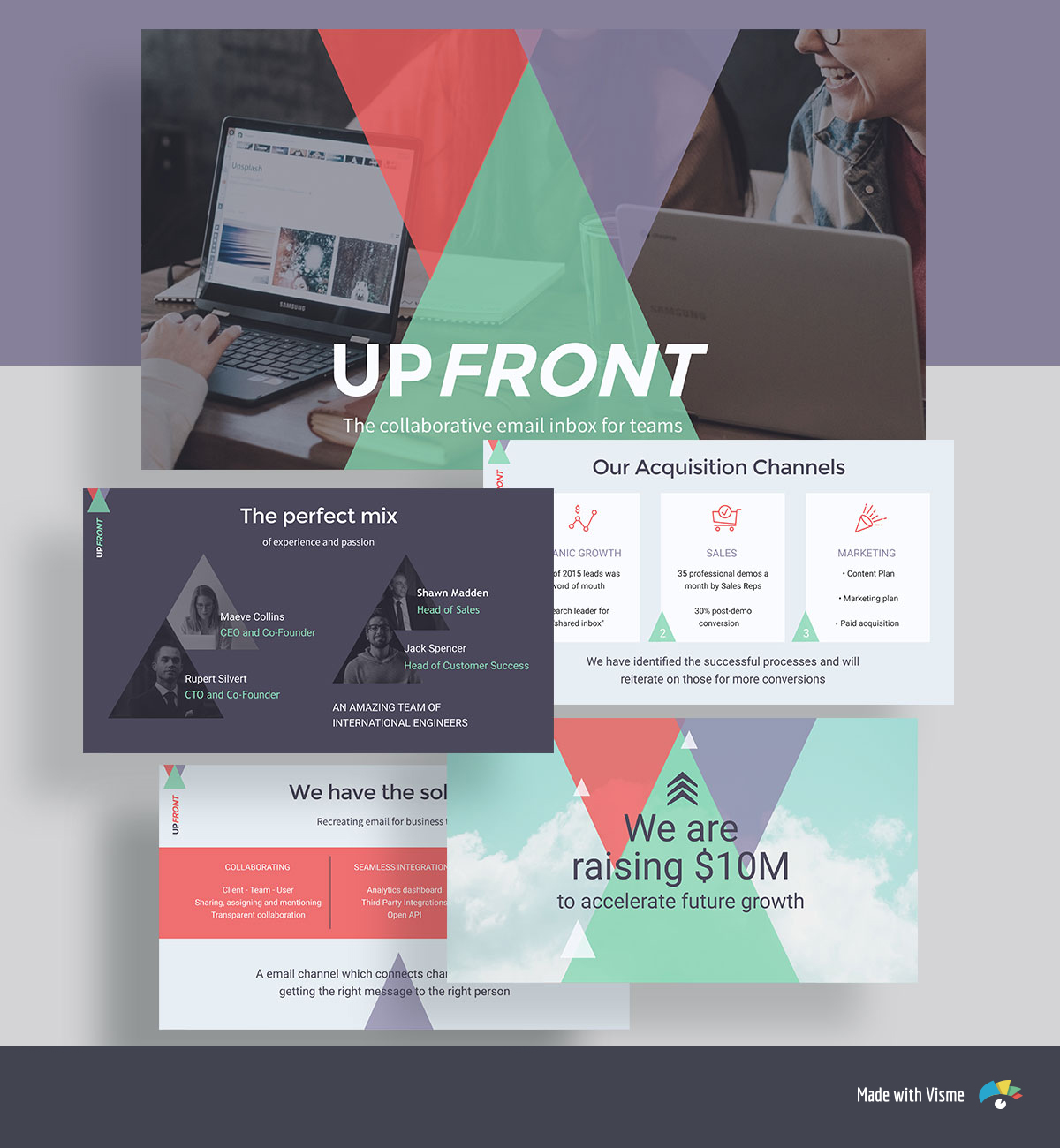 pitch deck design - upfront pitch deck template