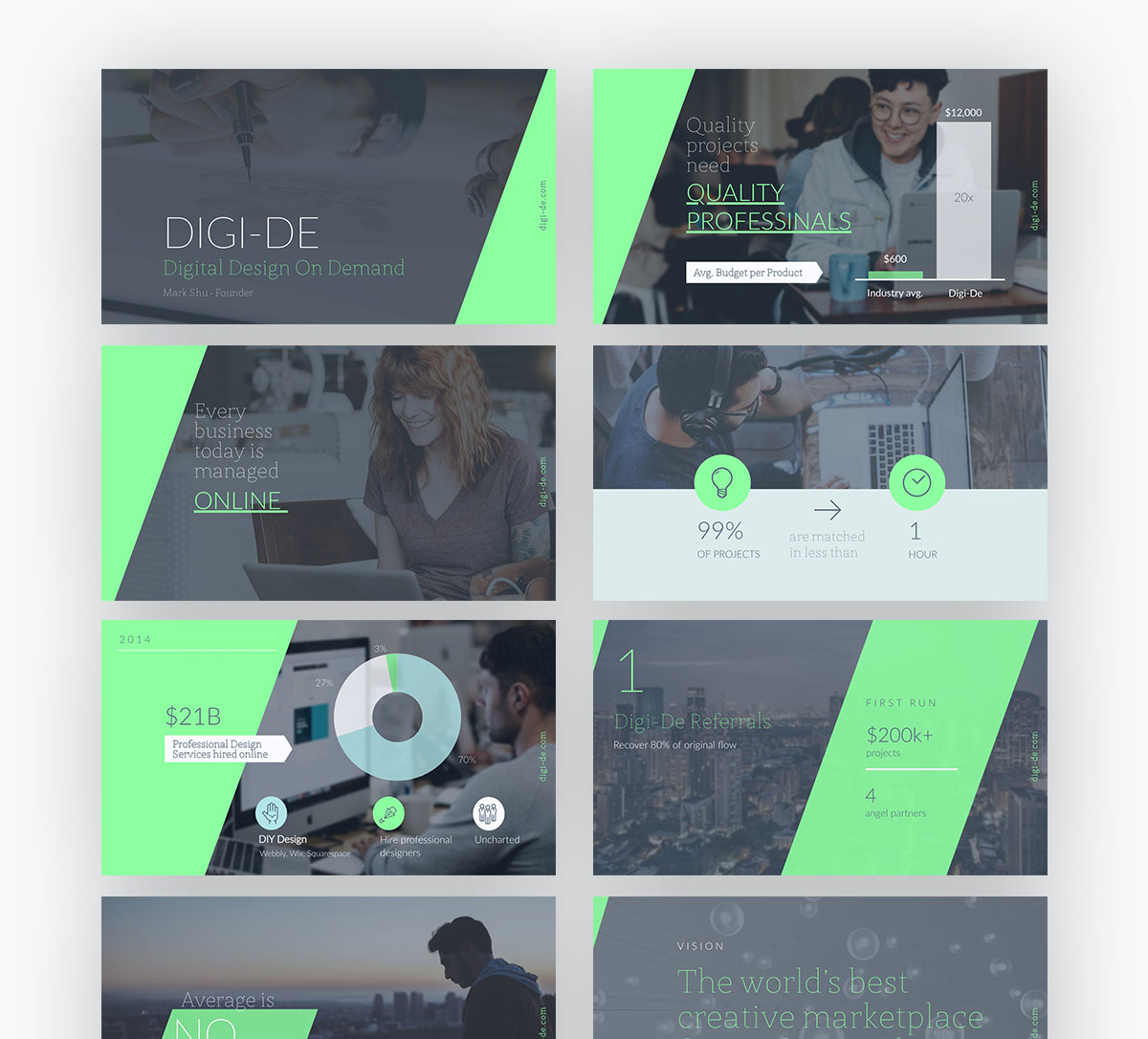 pitch deck design - digi-de pitch deck template