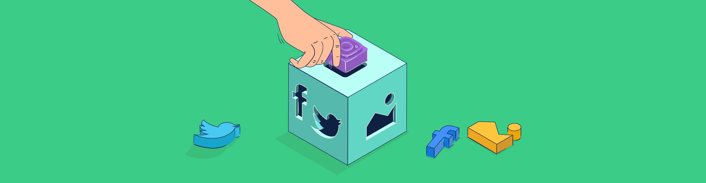 social media content - header