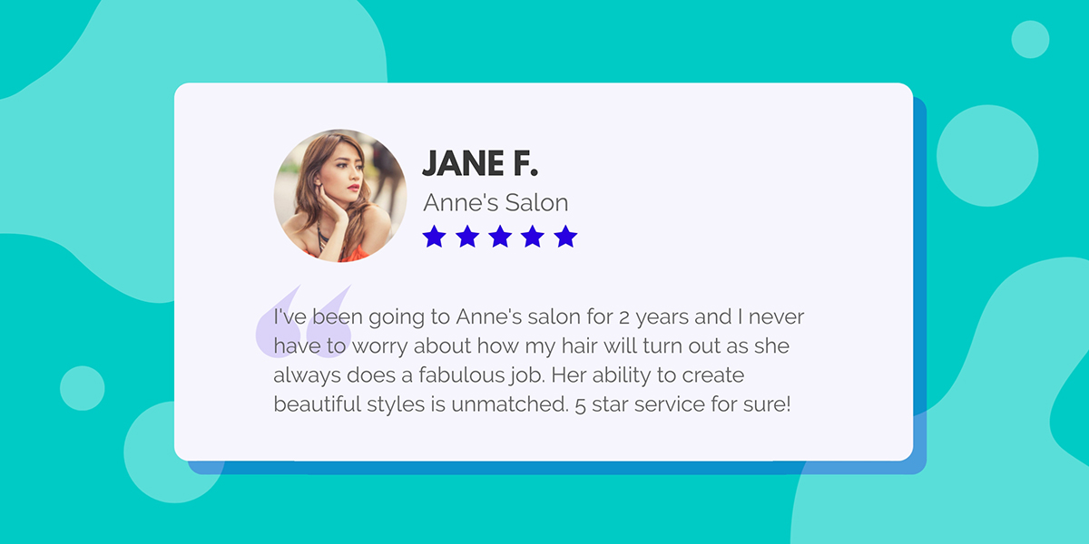 A testimonial template available to customize in Visme.
