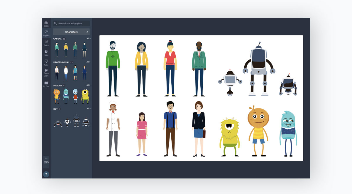 animated graphics - add animated illustrations from visme