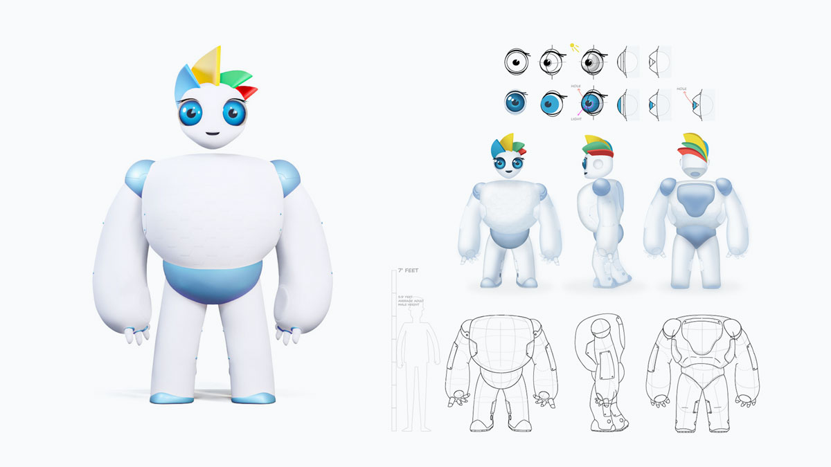 visme brand mascot - from 2d to 3d