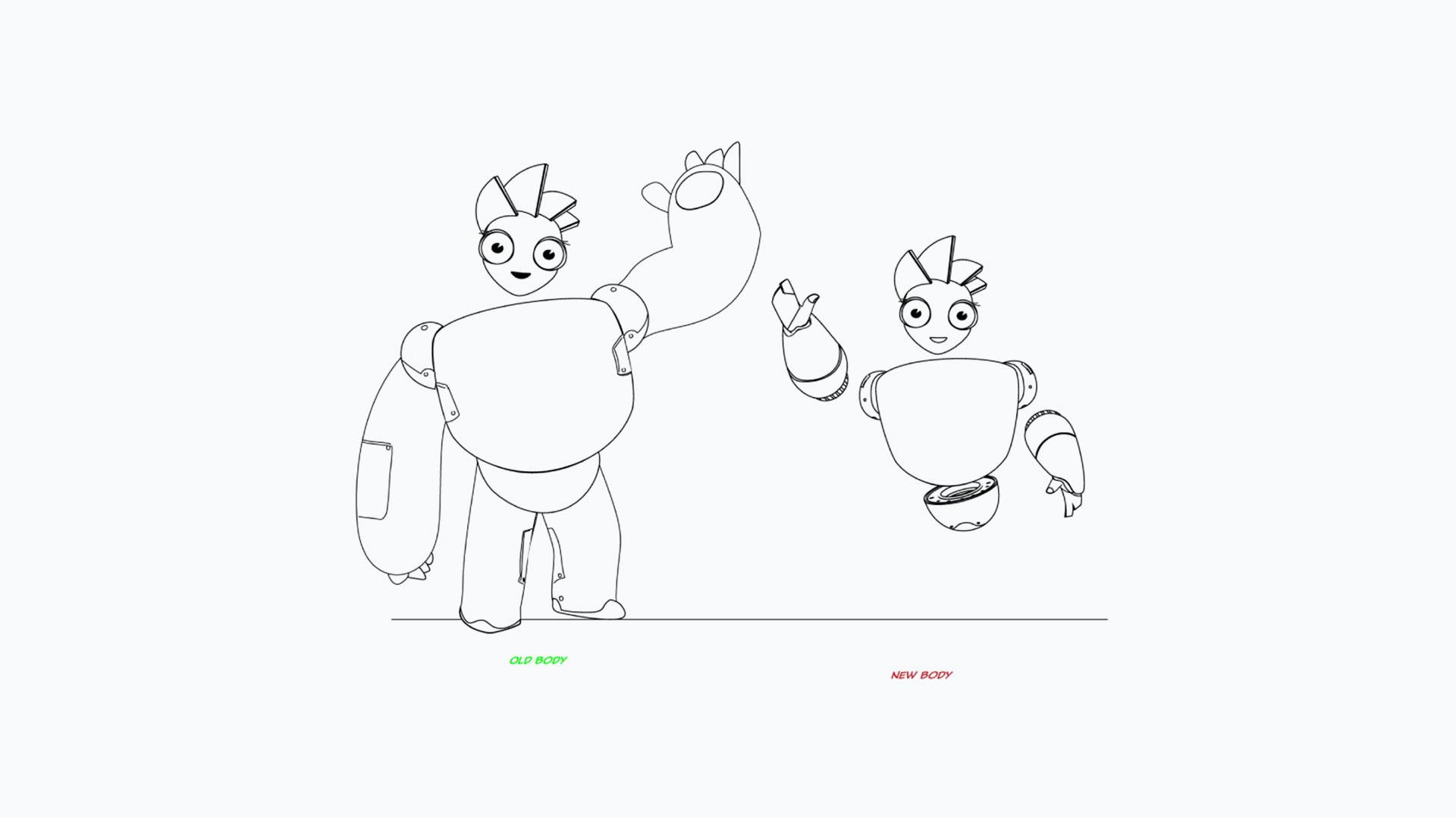 visme brand mascot - design process