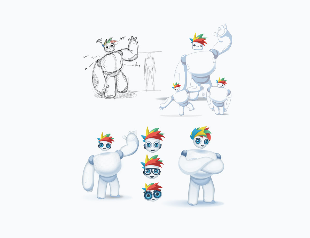 visme brand mascot - design sketches