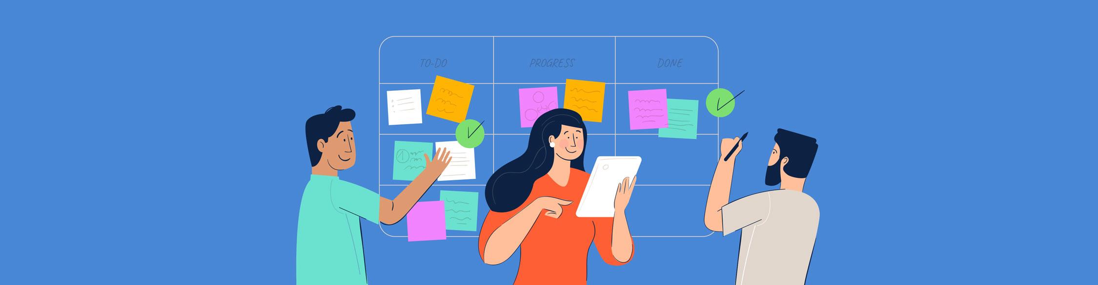 visual task management - header