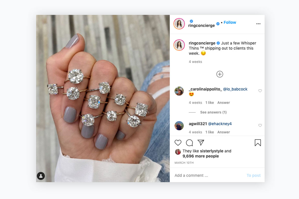 visual content strategy - ringconcierge instagram post
