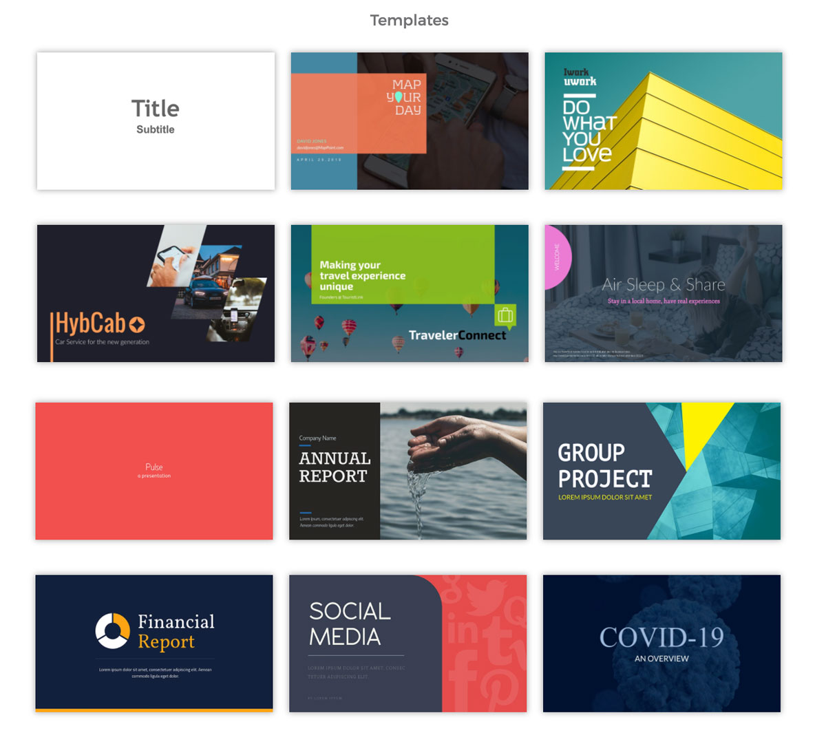 export powerpoint visme - presentation templates