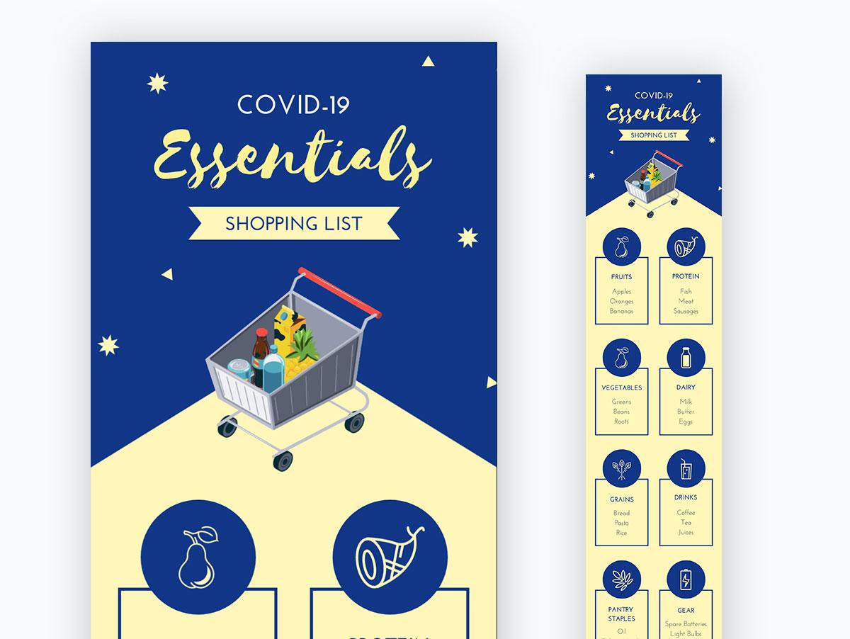 coronavirus templates - covid-19 shopping essentials
