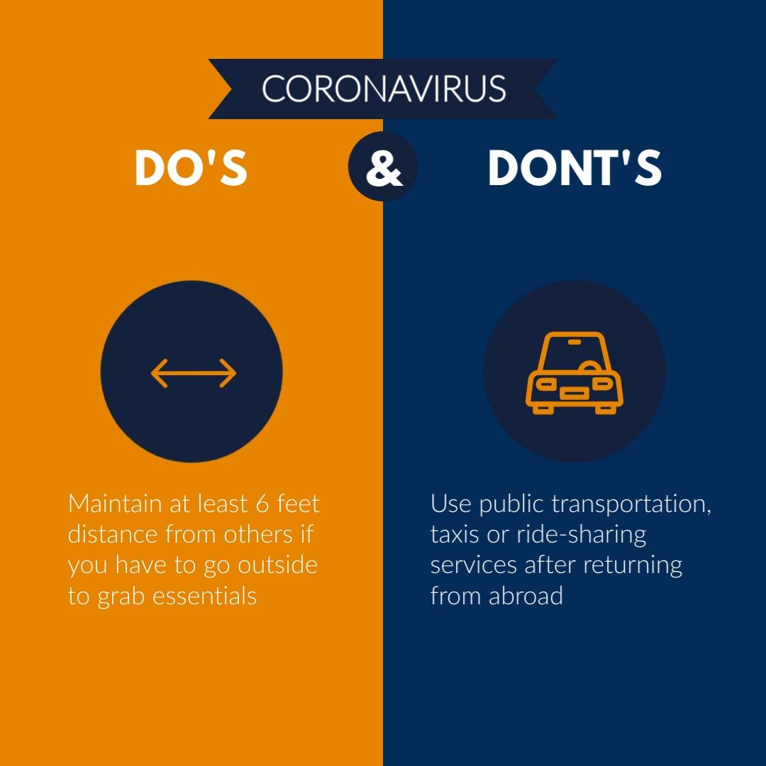 coronavirus templates - coronavirus do's and don'ts