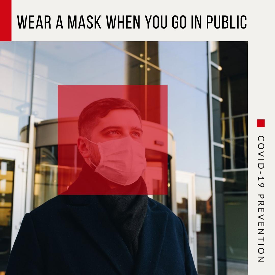 coronavirus templates - wear a mask in public