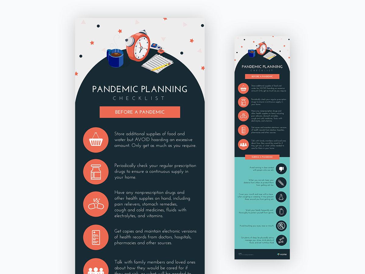 coronavirus templates - pandemic planning checklist