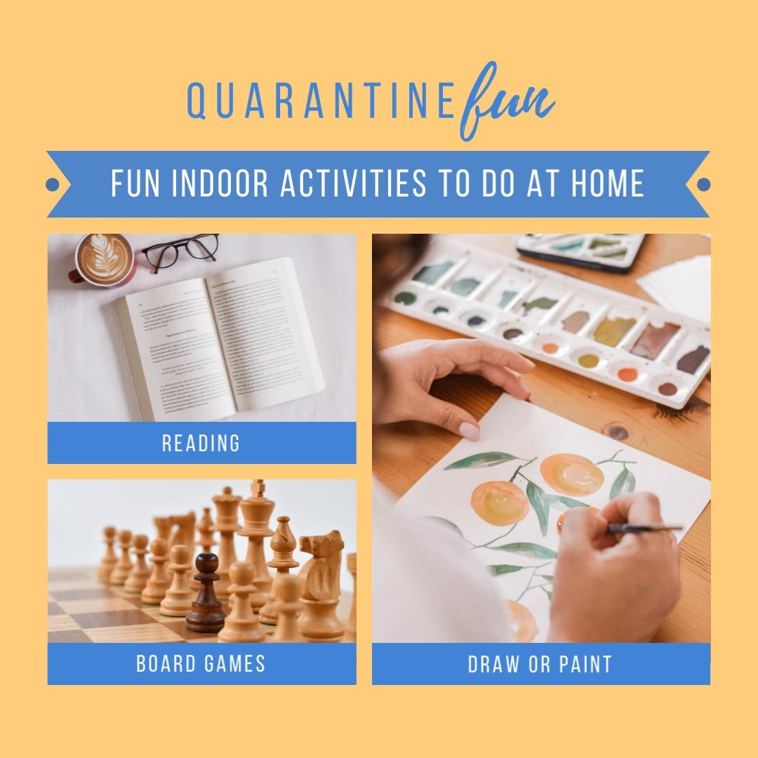 coronavirus templates - activities to do at home