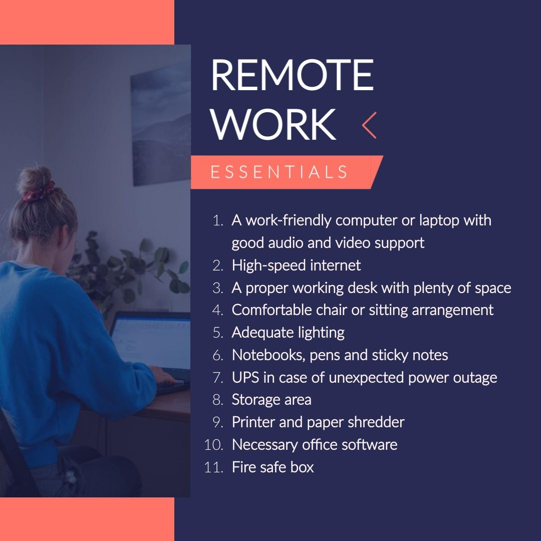 coronavirus templates - remote work essentials