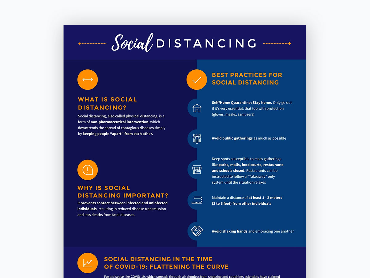 coronavirus templates - social distancing poster