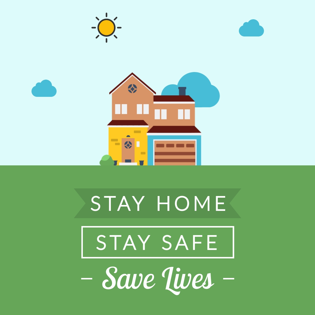 coronavirus templates - stay home stay safe template