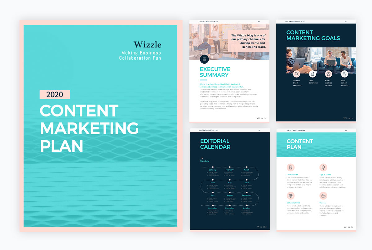 remote team - marketing-plan template
