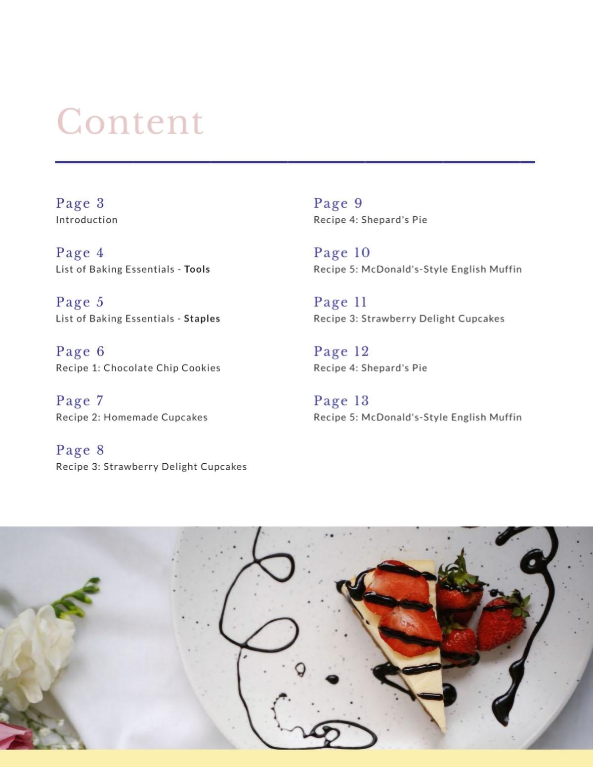 interactive ebook - create a clickable table of contents