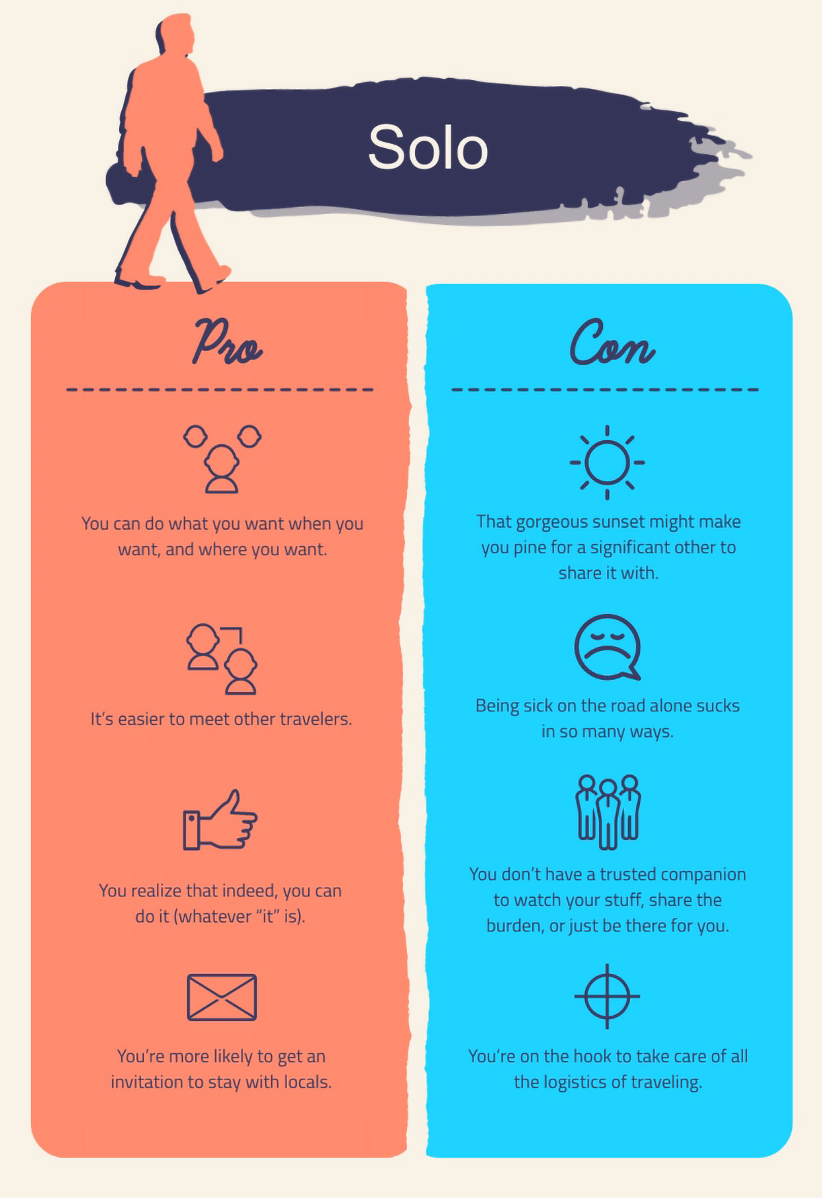visual communication - pros and cons template