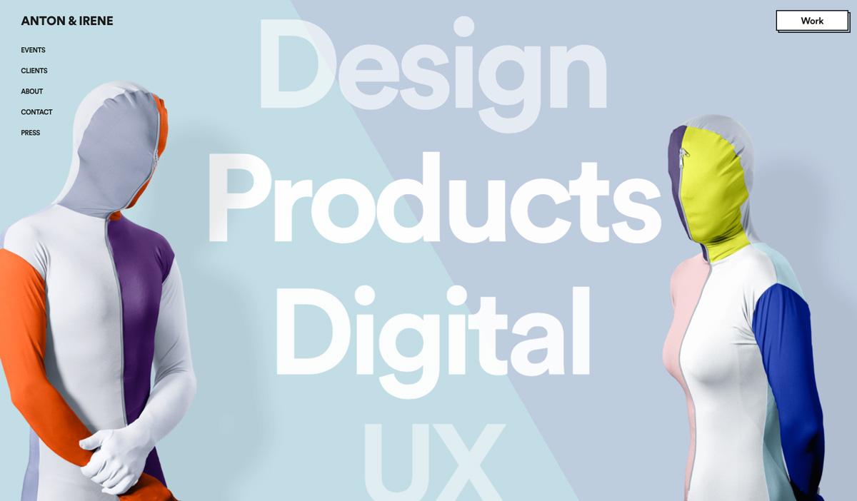 web design ideas - ensure consistent branding like anton & irene
